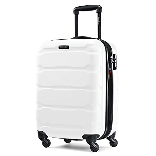 Samsonite Omni Expandable Hardside Carry On Luggage with Spinner Wheels, 20-Inch, White