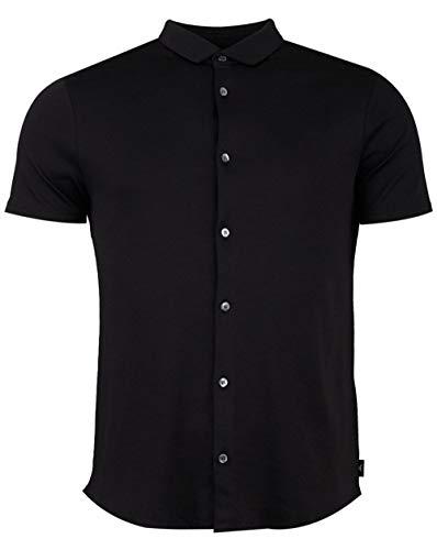 Armani Herren Slim Fit Jersey Baumwolle Kurzarm Shirt Schwarz M