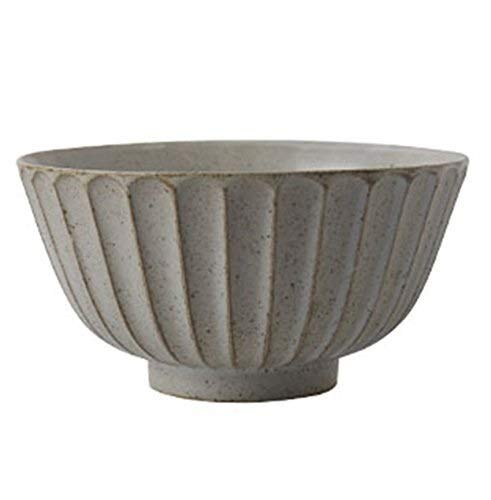 Home Big Wrist Home Ramen Bowl/Keramische Rijst Bowl/Japanse Servies Bowl/Salade Bowl/Pasta Bowl/Grote Soep Bowl Decoratieve Hotel Retro Soep Bowl 20.5 * 10.5cm