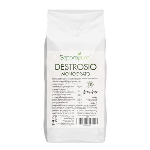 SaporePuro Dextrose - Idéal pour la crème glacée et Les sorbets - 1,5 kg - Format Pratique