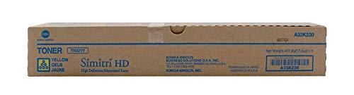 Konica Minolta TN321Y A33K230 Bizhub C224 C284 C364 Toner Cartridge (Yellow) in Retail Packaging