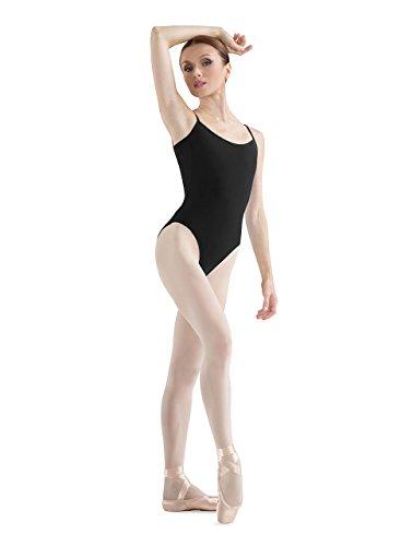 Bloch Dance Damen Sissone V-Ausschnitt Camisole Leotard, Damen, schwarz, X-Large