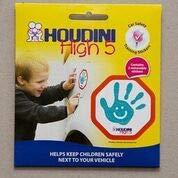 Houdini High 5, pegatinas de entrenamiento de seguridad para coche, ayuda a mantener a los niños seguros al lado de tu vehículo.