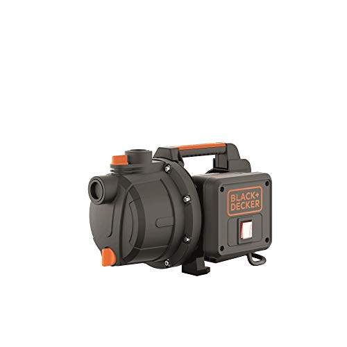Black+Decker BXGP600PE Bomba Autoaspirante para Aguas Limpias (600 W, Caudal max. 3.100 l/h, Prevalencia max. 35 m)