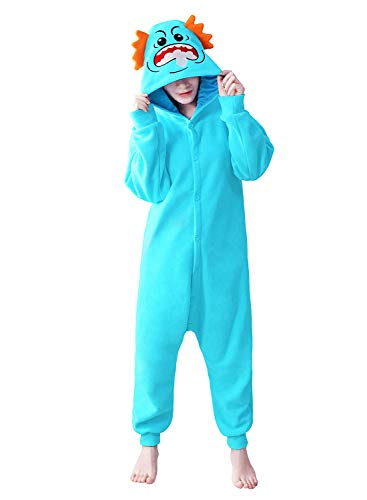 dressfan Animal Jumpsuit Rick Onesie Sleepwear Adult Pajamas