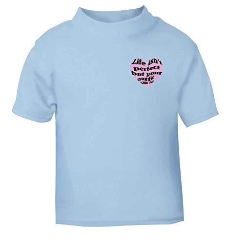 Flox Creative T-shirt pour bébé Inscription Life Isn't Perfect But Your Outfit Can Be - Bleu - 6-12 mois