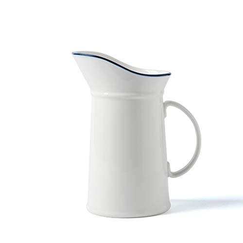 Dispensador de agua y bebidas de cerámica – Tetera – Resistente a altas temperaturas – Jarra para zumo de té – Gran capacidad – 1000 ml para bebidas calientes o frías