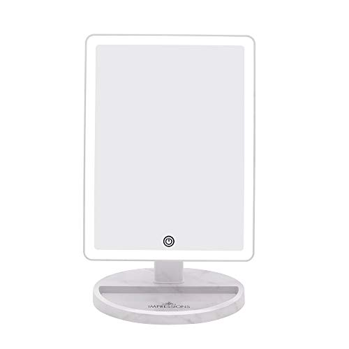 Impressions Vanity Marble Touch Ultra Makeup Vanity Mirror with LED Lights