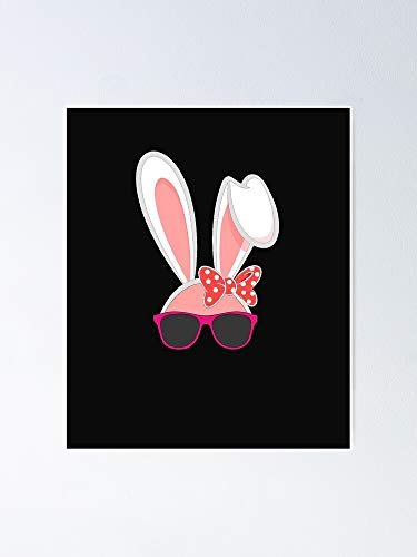 Bunny with Glasses Happy Easter Poster - for Quote Print, Affordable Wall Art Printable, Gallery Wall, Family, Friends, Brother, Sister, Kids.