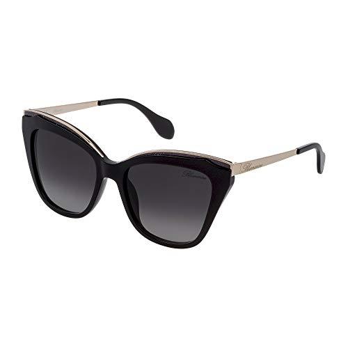 Blumarine SBM765 0700 55-18-135 - Gafas de sol para mujer, color negro brillante