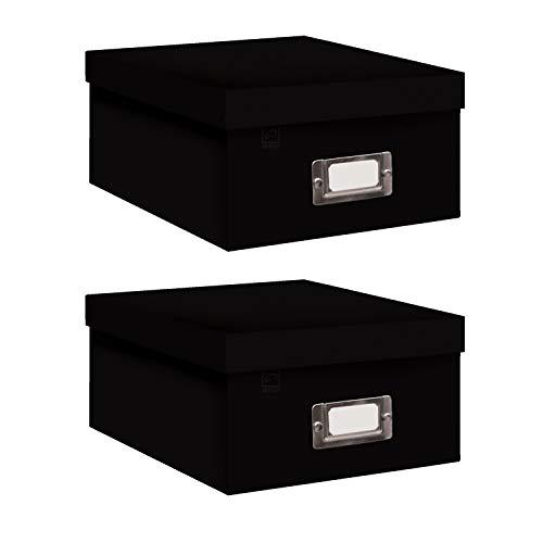 Pioneer Photo Albums Photo Storage Box - Black Bundle