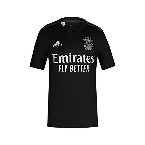 adidas Camiseta 2º Equipácion SL Benfica 2020-21, Unisex-Niños, Black/Silver, 176