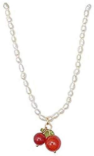 ZGYFJCH Co.,ltd Collar Collar de Cereza pequeño Collar de Cadena de clavícula