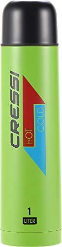 Cressi Stainless Steel Thermal Flask 1 Botella térmica de Acero Inoxidable para Deportes, Unisex-Adult, Kiwi/Negro, 1 l