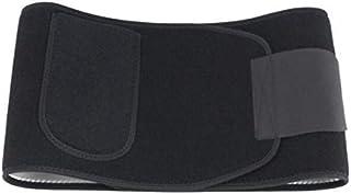 حزام لتنحيف شكل الجسم للرجال والنساء - حزام رياضي للخصر مع حقيبة هاتف(BLACK-M)