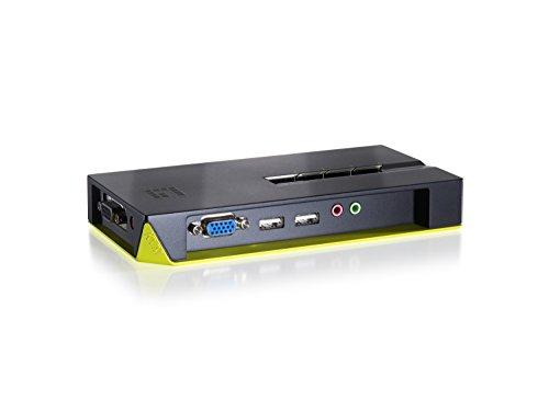 LevelOne Switch KVM de 4 Puertos USB con Audio - Periférico de Entrada (2048 x 1536 Pixeles, USB, USB, VGA, Auriculares de 3,5 mm, 3.5mm Mic, USB A, VGA (D-Sub), USB Tipo A)