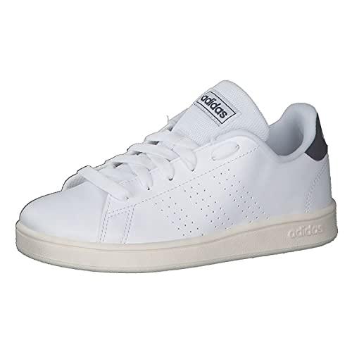 adidas Advantage K, Scarpe da Tennis, Blanc Bleu Marine Blanc, 38 EU