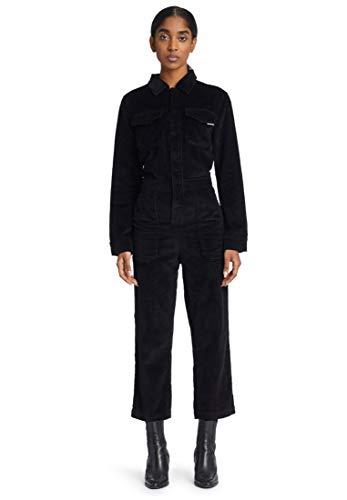 khujo Damen Overall JACKATA Einteiler aus Cord Jumpsuit mit langem Arm Reine Baumwolle