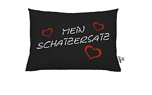 Laake Zirbenkissen aus Baumwolle 30 x 20 cm selbstgestalten mit eigenem Text wir Bedrucken Ihr Kissen (Schwarz)