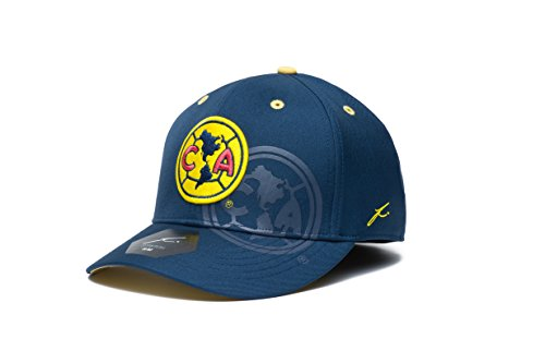 Fi Collection Adult Unisex International Soccer Club América Two Touch Stretch Fit Hat, Team Color, Small/Medium