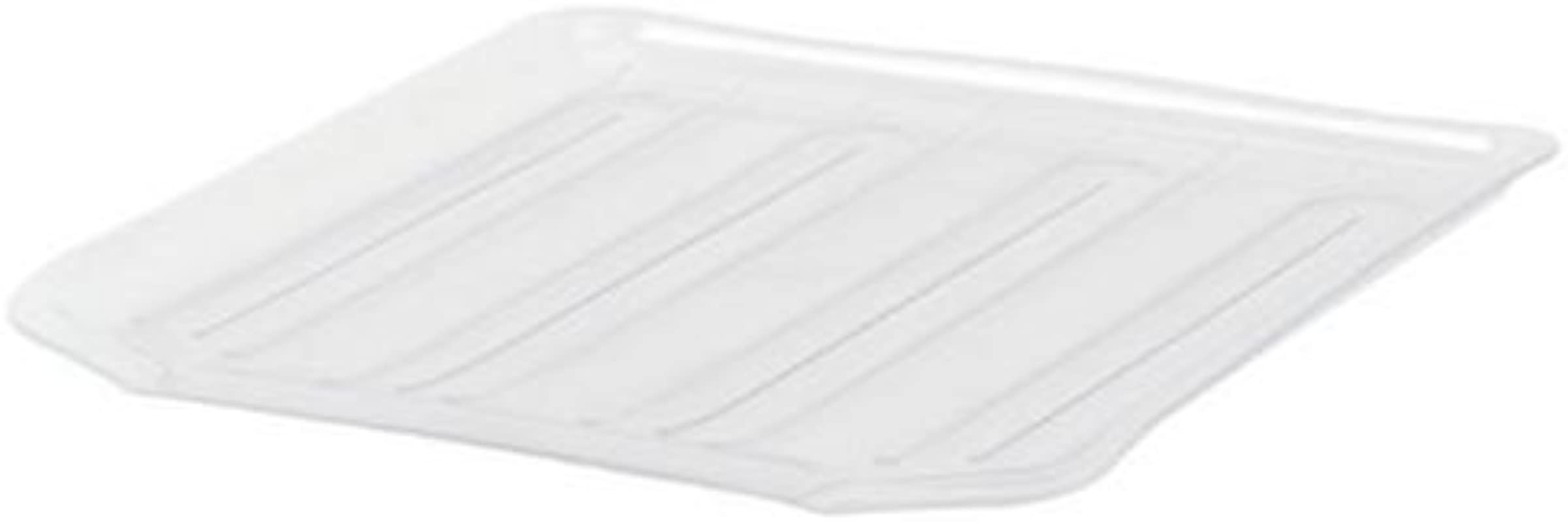 Rubbermaid Antimicrobial Drain Board Large Clear 2 Pack