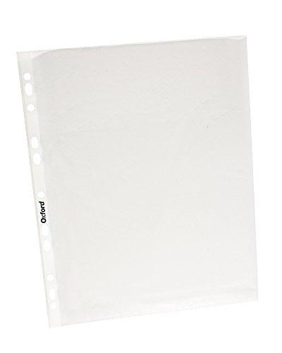 Oxford 64000 Protector de Hojas Antirreflejante 11 Perforaciones, Tamaño Carta, Caja de 100