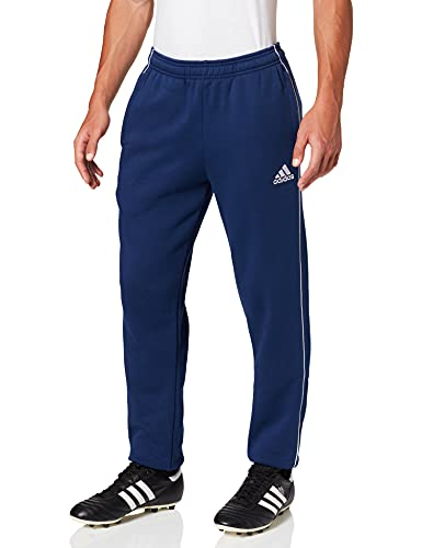 adidas Herren Trainingshose Core 18 Sweat, Dark Blue/White, L, CV3753