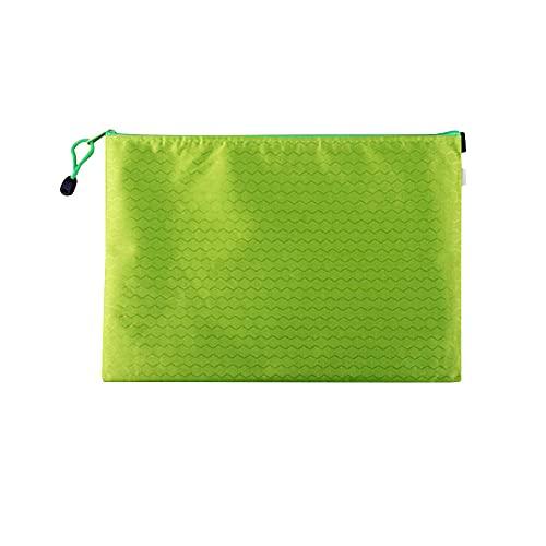 Muka Paquete de 10 soportes de documentos con cremallera, bolsas de archivo, bolsas de malla con cremallera, organizador de documentos, Green (Verde) - 6DKC-JR0005_GREEN-B6