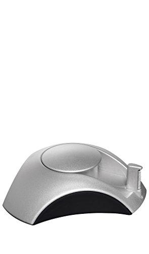 HAN 1756-13 plakfolie-dispenser DELTA, met plakband 10 m x 15 mm, rubberen voetjes zilver