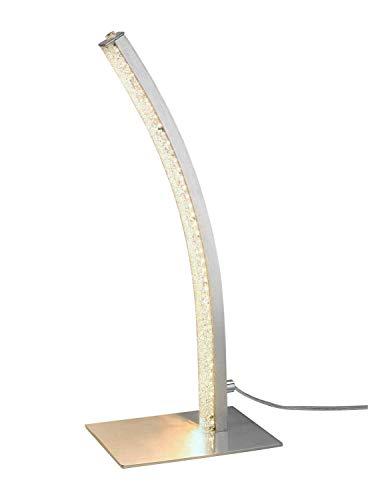 LED-Tischleuchte Tischlampe Schreibtischlampe | Metall | Silberfarben | inkl Leuchtmittel | Touch-Me | Dimmfunktion
