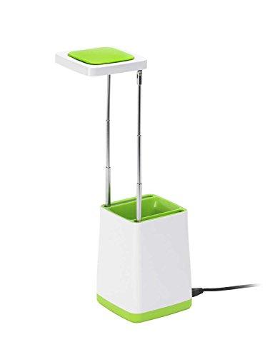 Mathias 3481171 Top D9H31 Lampe Bureau USB, Plastique, Intégré, 230 W, Blanc/Vert anis, D9 H31