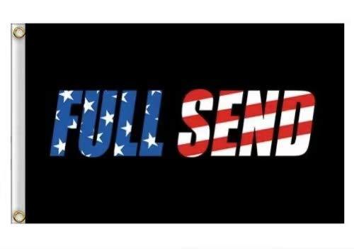 YOYNIIRE Full Send Flag 3x5Ft Nelk Nelkboys for The Boys Black Banner (Colorful)