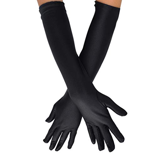 Women's Black Opera Gloves