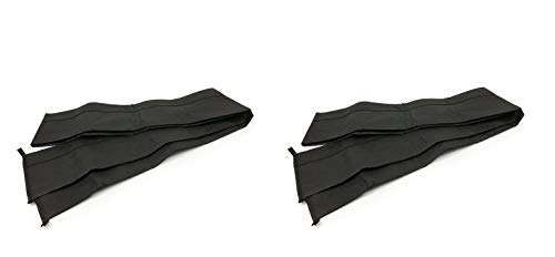 Quick Dam QD610-1 Water Activated Flood Barrier 10 feet, 1-Pack Barriers-10 ft, Black (Two Pack)