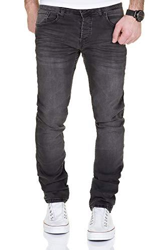 MERISH Jeans Herren Destroyed Hose Used-Look Jeanshose Männer Denim 2081-1001 (34-32, 1001 Anthrazit)
