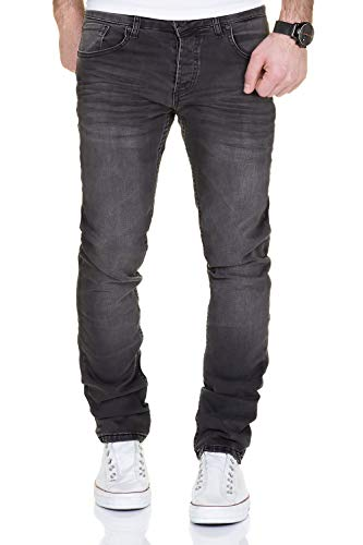 MERISH Jeans Herren Destroyed Hose Used-Look Jeanshose Männer Denim 2081-1001 (36-30, 1001 Anthrazit)