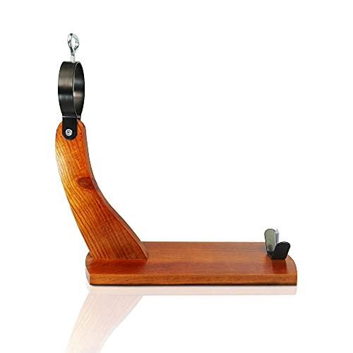Jamonero Modelo HUELVA económico, fabricado en ESPAÑA. Soporte jamonero Góndola ideal para uso doméstico. (40cm x 37cm x16,5cm)