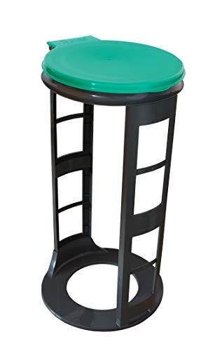 Gies Müllsackständer Grün Made in Germany 120 Liter - Robuste Qualität - Für alle Arten von Müllsäcken - Ideal für Haushalt, Camping, Gastronomie