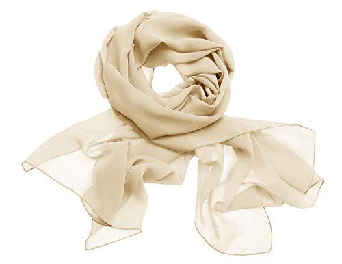Dresstells Chiffon Schal Stola für Abendkleider in Verschiedenen Farben Champagne 180cmX72cm/ Small