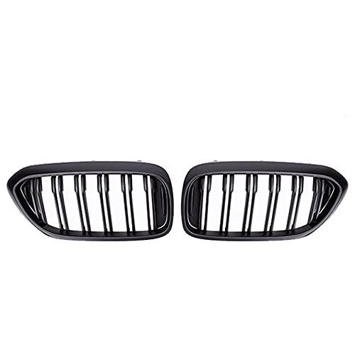 XYRDM Rejilla de riñón, Carreras Delanteras para BMW Nuevo 5 Series G30 G38 525i 530i 540i 550i 17-20 m Performance Parachoques 2 Llantas Parrilla Reemplazo,Matte black2