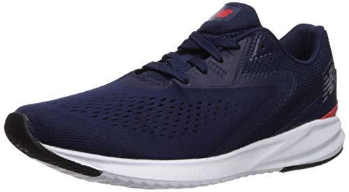 New Balance Men's Viz Pro Run V1 FuelCell Sneaker, Navy/Coral Glow, 9 4E US
