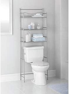 3-Shelf Bathroom Space Saver in Satin Nickel