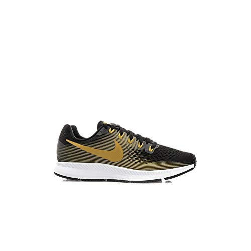 Nike WMNS Air Zoom Pegasus 34 880560-009 Black/Metallic Gold Women's Running Shoes (6.5)