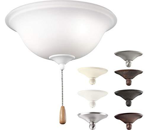 Kichler 338509MUL, Opal Etched Glass Bowl Light Kit