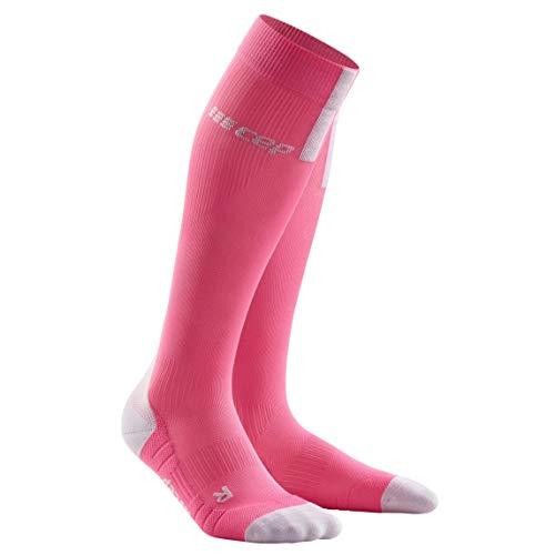 CEP Unisex-Adult Compression Socken, 3.0 - Rose/Light Grey, 34-38