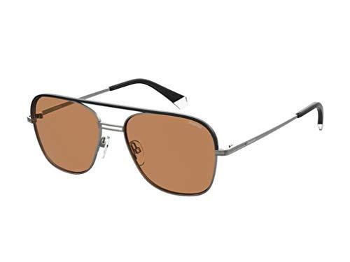 Polaroid Gafas de sol PLD 2108 / S/X R80 / HE gafas de sol hombre color plata cobre tamaño de la lente 57 mm