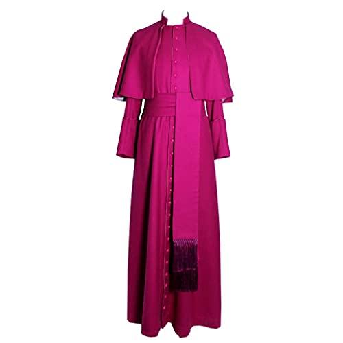 Ministro Coro Cassock Robe Clero Púlpito Vestment Medieval Cassock