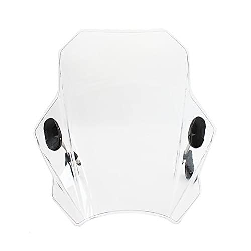 Deflector De Viento Moto Parabrisas Ajustable para Motocicleta para G310R R1150 F800R Z650 Z900 Z1000 Z800 Z750 Z250 Z300 Z400 (Color : Transparent)