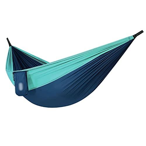 Hamacas para Acampar Hamaca De Jardín Paracaídas Portátil Hamacas Multifuncionales para Mochileros Viajes Playa Patio (Color : Blue, Size : 300kg)