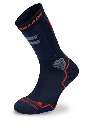 Rollerblade High Performance Chaussettes Homme, Noir/Rouge